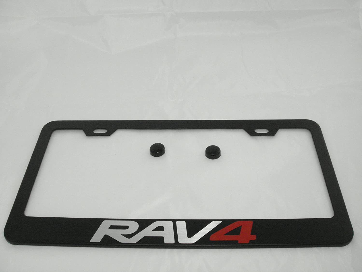 Toyota Black License Plate Frame with Caps