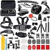 Followsun 52-In-1 Accessori per GoPro Hero Session/5 Hero 1 2 3 3+ 4 5, Kit per Action Camera SJ4000 SJ5000 SJ6000 SJ7000 DBPOWER AKASO VicTsing APEMAN WiMiUS Rollei QUMOX Lightdow Campark Sony Sports