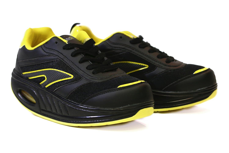Fitness Step Black/Yellow (36): Amazon.es: Zapatos y complementos