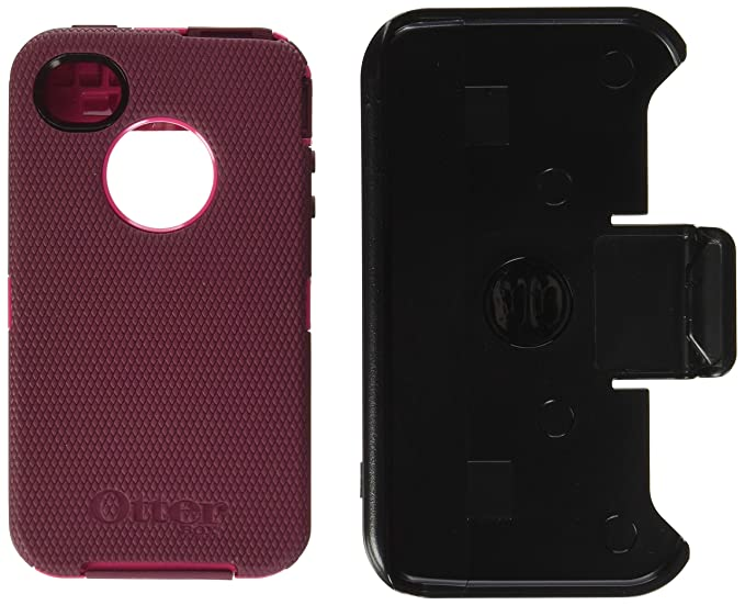 quality design 89db8 d7502 OtterBox Defender Series Case for iPhone 4/4S - Retail Packaging -  Pink/Deep Plum (Discontinued by Manufacturer)