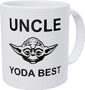 Wampumtuk Uncle, Yoda Best 11 Ounces Funny Coffee Mug