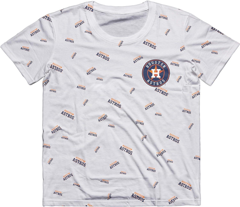 FOCO MLB Mens Big Logo Wordmark Tee