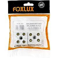 Conector de Porcelana Foxlux – Bipolar – 16 mm²/corrente até 50 A – Isolação de até 600 V (externo) – 2 unidades