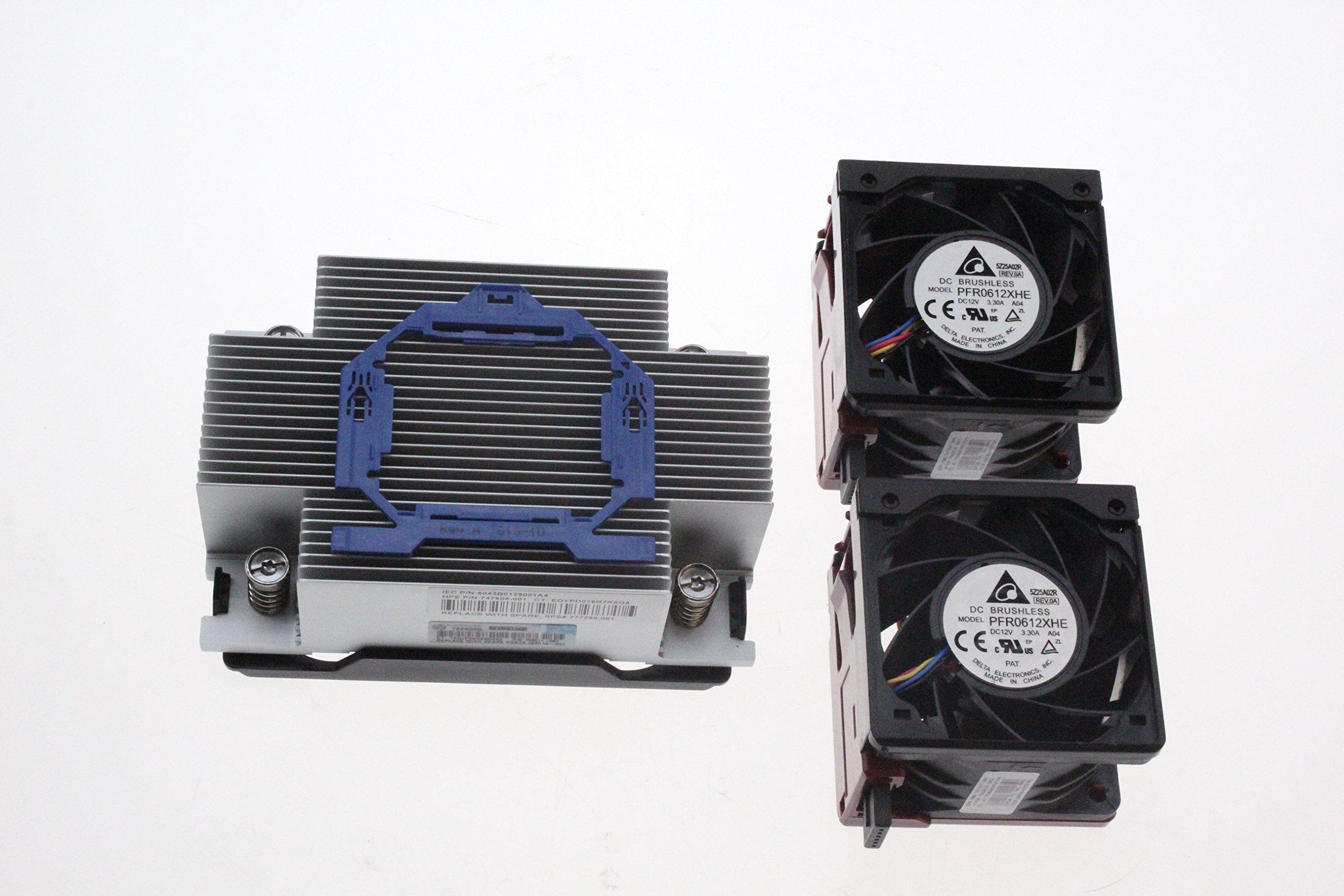 New for HP DL380 DL380p G9 Xeon CPU Kit, Heatsink 747608-001 2 Fans 747597-001 BestPartsCom by BestPartsCom