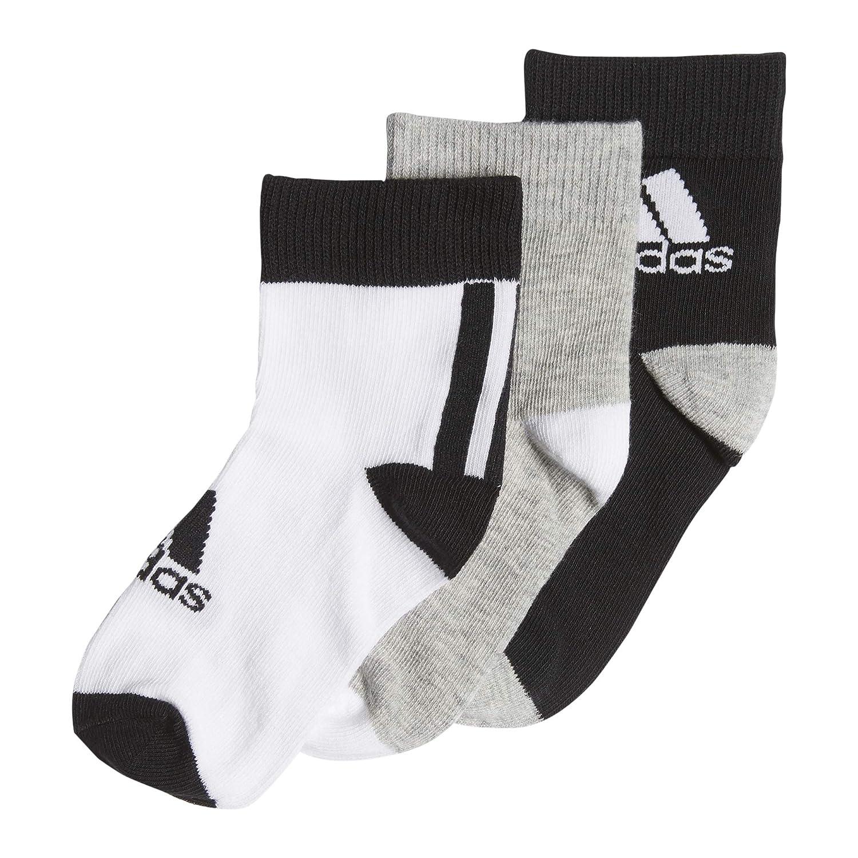 adidas LK Ankle S 3Pp Calcetines, Unisex niños, Negro/Brgrin ...