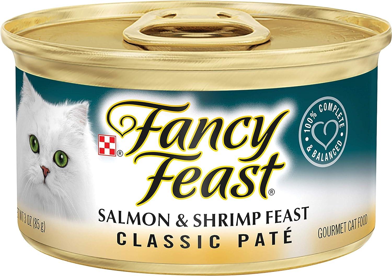 30 Cans of Purina Fancy Feast Classic Pate Salmon & Shrimp Feast Wet Cat Food - 3 oz.ea