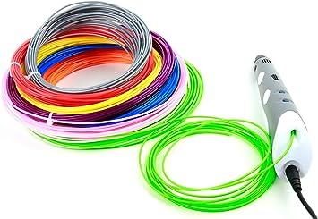 DURAGADGET 10 Filamentos de colores para Impresora 3D BQ Witbox 2 ...