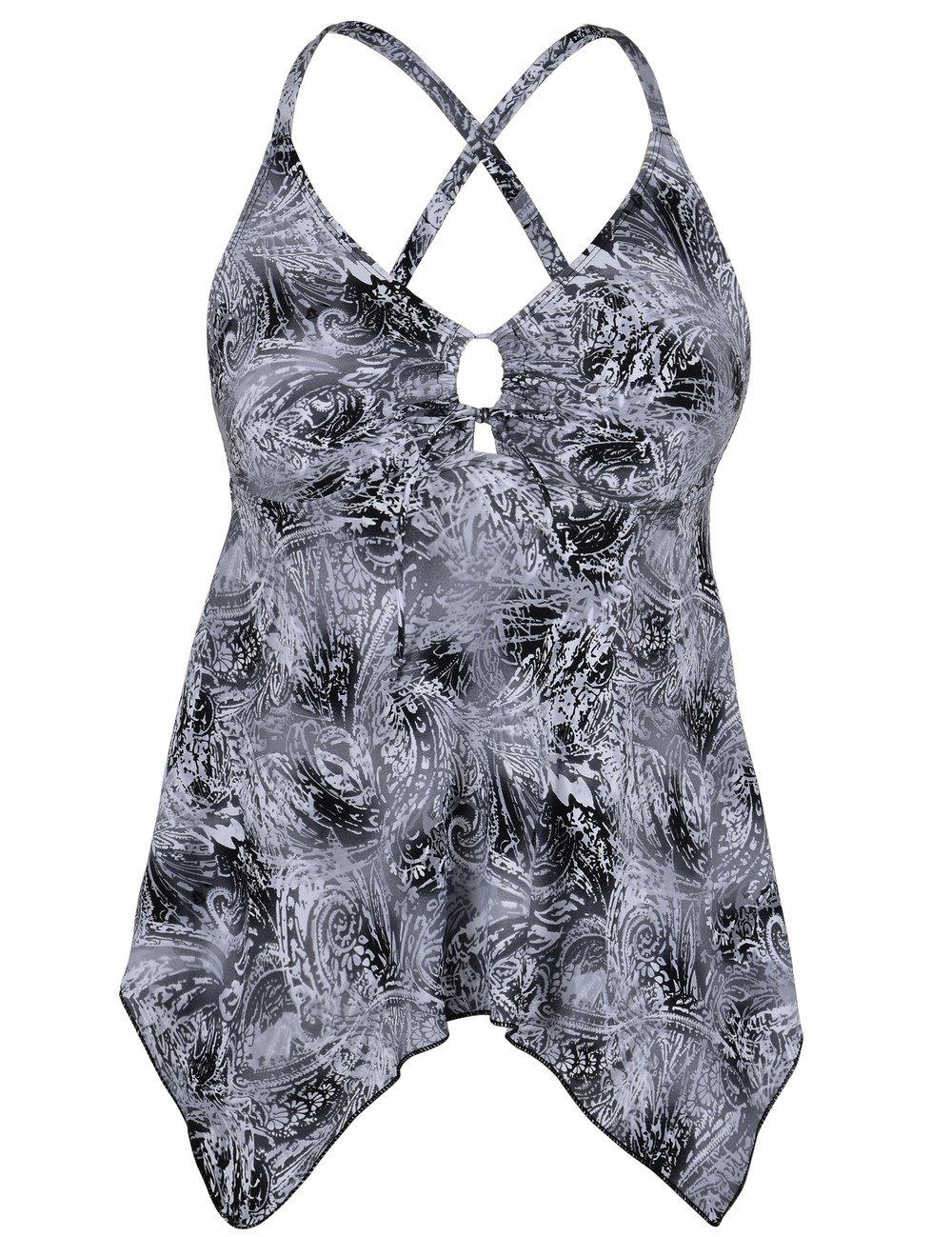 Hilor SWIMWEAR レディース B075RW3JVT 16|Grey&black
