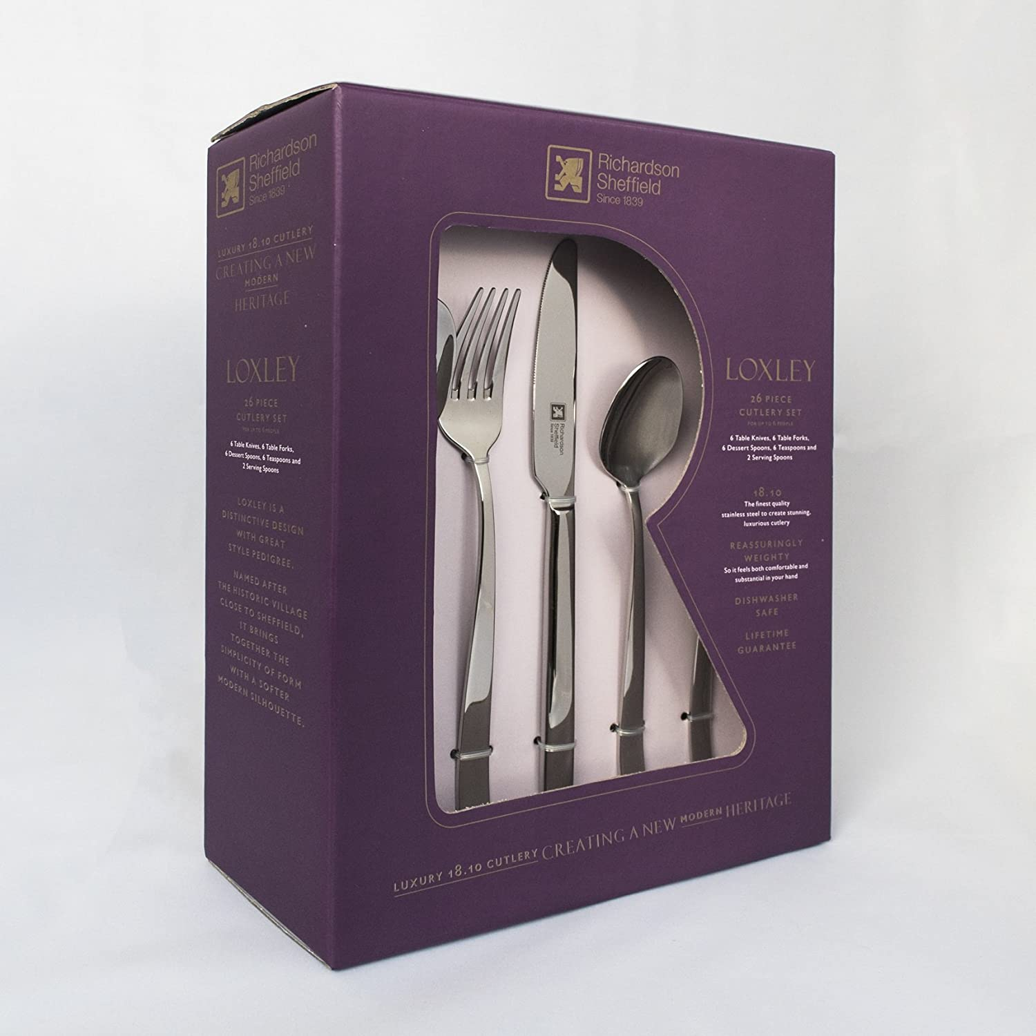 Richardson Sheffield LUXURY 18.10 Stainless Steel 26 Piece 6 Person