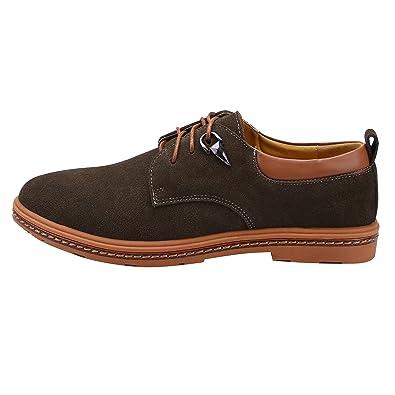 Zapatos con Cordones de PU-Cuero - Zapatillas para Hombre Marrón 38.5 EU dUgnR4m2