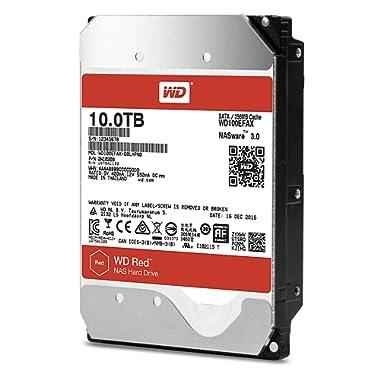 WD Red 10TB NAS Hard Drive - 5400 RPM Class, SATA 6 Gb/s, 256 MB Cache, 3.5  - WD100EFAX