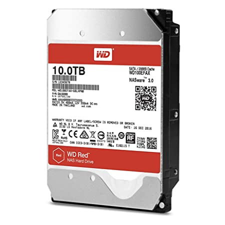 WD 10TB Internal SATA Hard Drive (WD100EFAX) SATA at amazon