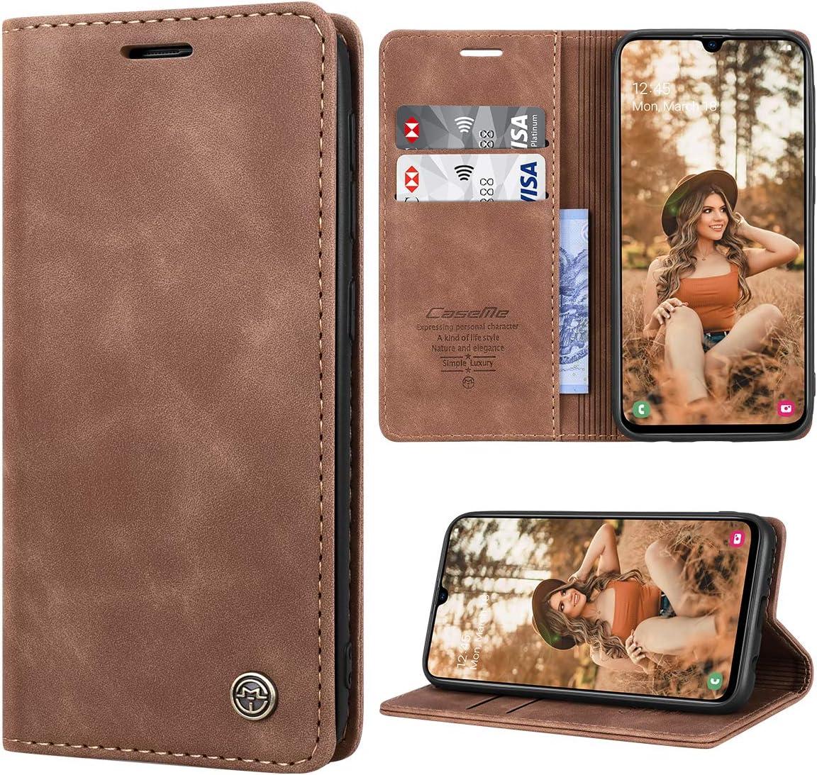 RuiPower Handyh/ülle f/ür Samsung Galaxy A51 H/ülle Premium Leder PU Flip Case Wallet Lederh/ülle Klapph/ülle Magnetisch Silikon Bumper Schutzh/ülle f/ür Samsung Galaxy A51 Tasche Schwarz