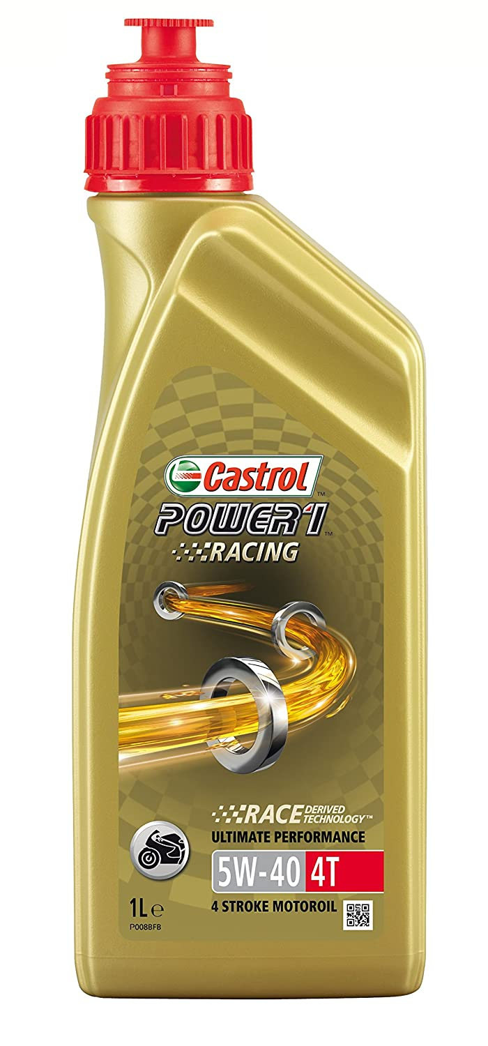 Castrol Power 1 Racing Aceite de Motores 5W-40 4T 1L (Sello inglés): Amazon.es: Coche y moto