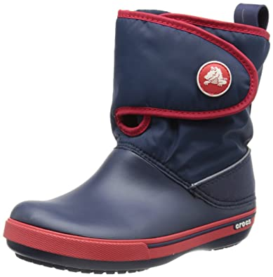 uk availability b13c9 54013 crocs Unisex-Kinder Crocband Ii.5 Gust Boot Schneestiefel, Braun  (Espresso/Orange 24i), 27 EU