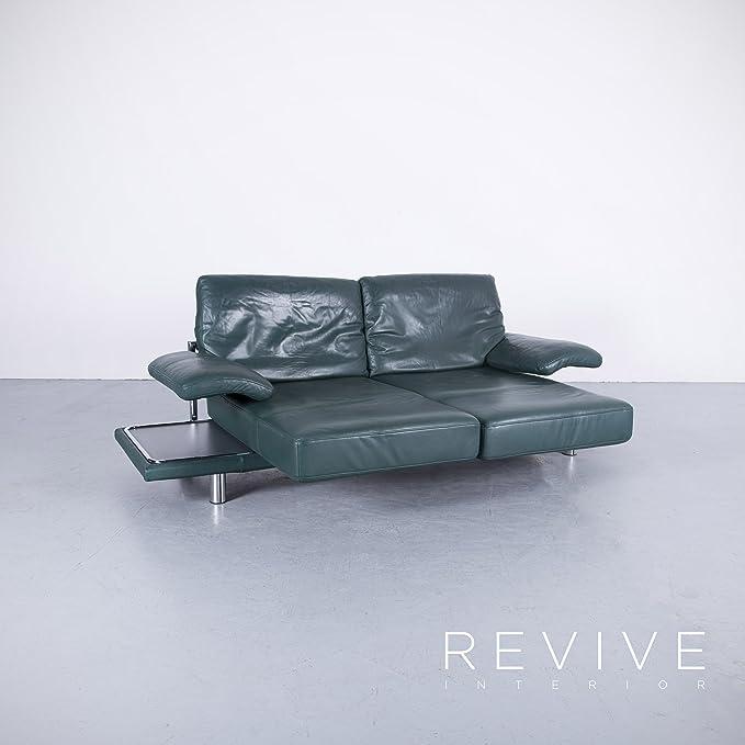 Amazonde Rolf Benz 2400 Leder Sofa Grün Zweisitzer Couch Funktion