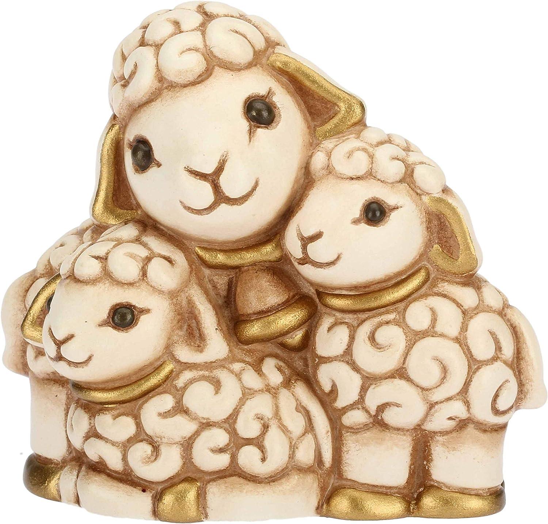 Thun Figurine cr/èche Groupe Moutons en c/éramique H 5,5/cm