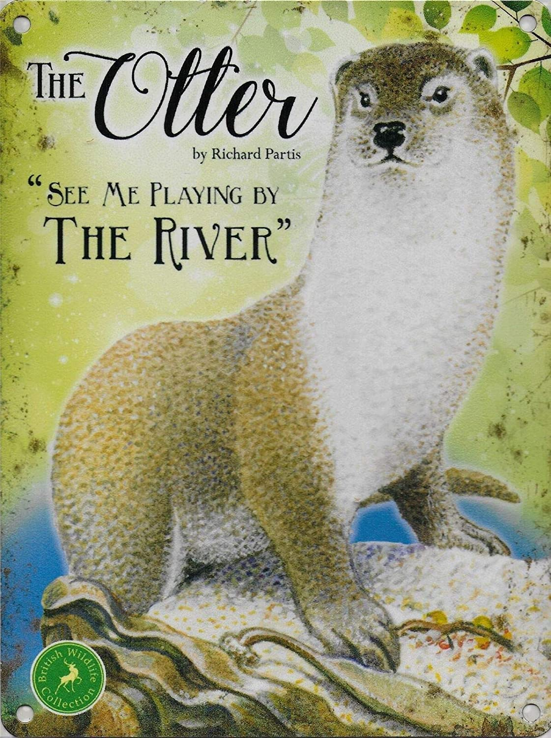 Otter See Me Playing in The River Vintage Retro Metal Tin Sign Home Bar Kitchen Farmhouse Garden Decor Signs Gifts 8X12Inch