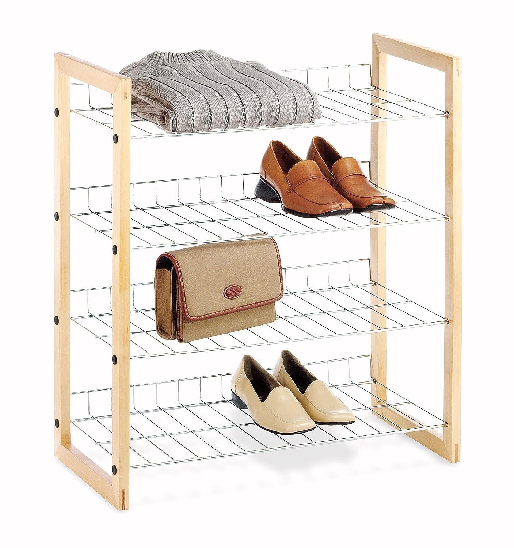 Amazon.com: Whitmor 4 Tier Closet Shelf - Storage Organizer ...