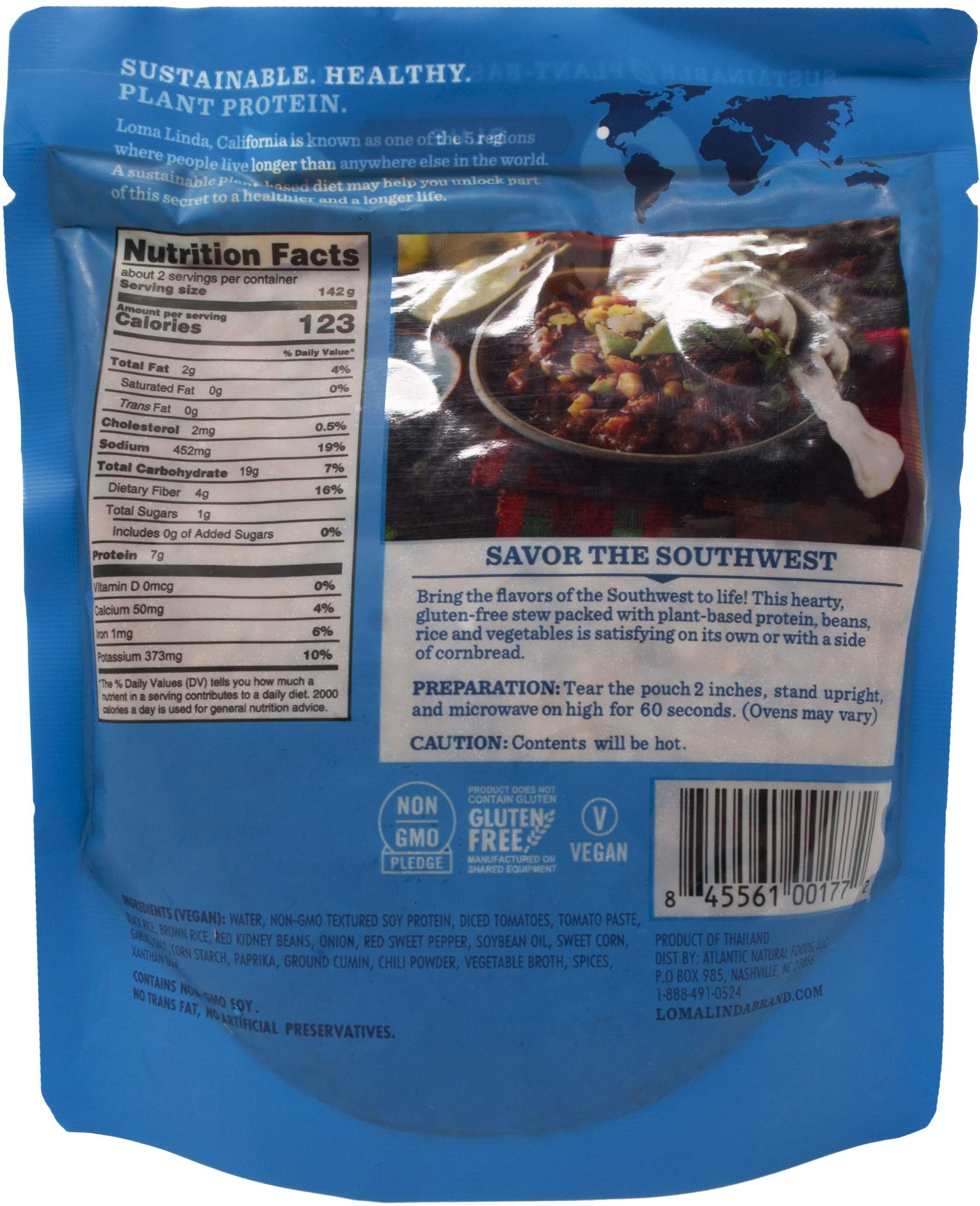 Loma Linda Heat & Eat Gluten Free Vegan Meal 3 Flavor Variety Bundle, (1) each: Spicy Pad Thai, Chipotle Bowl, Southwest Chunky Stew (10 Ounces) by Loma Linda (Image #4)