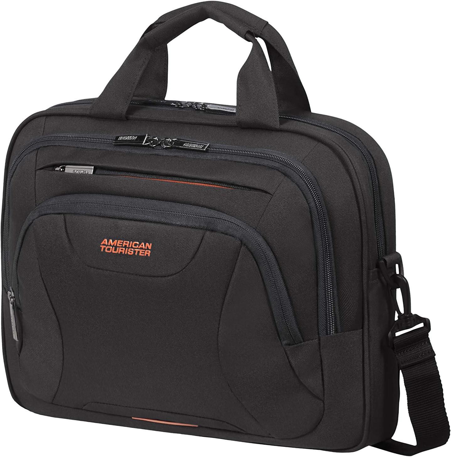 American Tourister At Work 39cm Briefcase, Black/Orange (Black) - 88531/1070