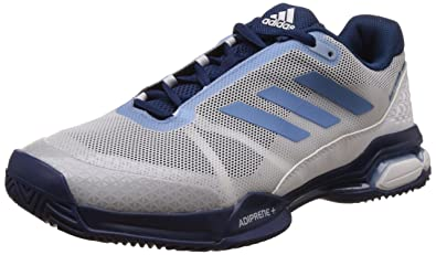 best sneakers 9d4aa 66bf8 Adidas Mens Barricade Club Ftwwht, Teblme and Mysblu Tennis Shoes - 10  UKIndia