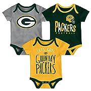 Outerstuff NFL NFL Green Bay Packers Newborn & Infant Little Tailgater Short Sleeve Bodysuit Set Hunter Green, 6-9 Months