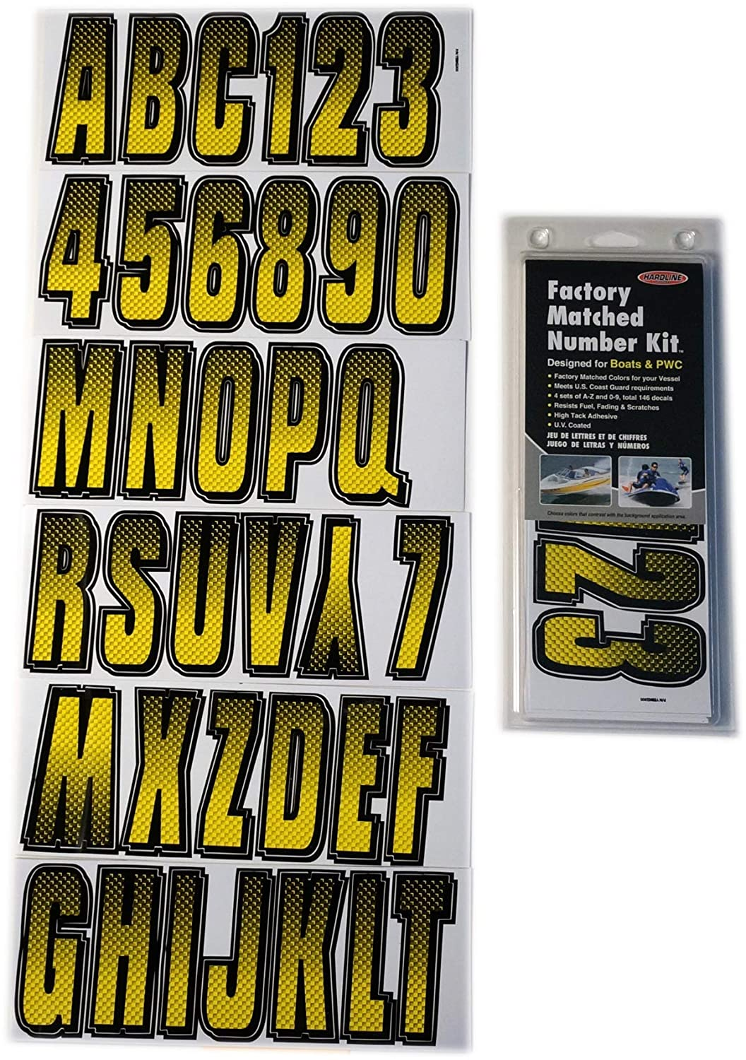 Hardline Products BRBKG300 Brown/Black Number Factory Matched Registration Kit