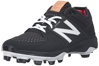 New Balance Men's L3000V3 Baseball Shoe, Black/White, 8.5 2E US