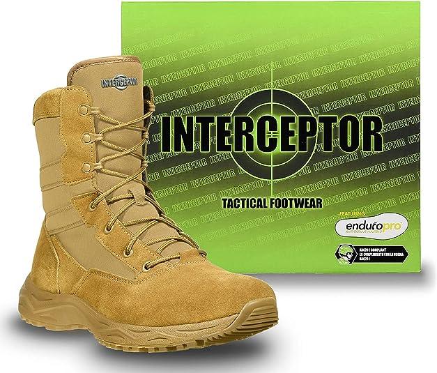 Amazon.com: Interceptor Frontier Botas tácticas de trabajo ...
