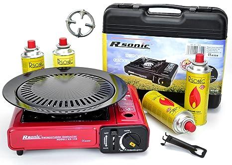 Portátil Estufa De Gas Camping Cocina con 8 Gas kar aplicar el rimel + Accesorio de