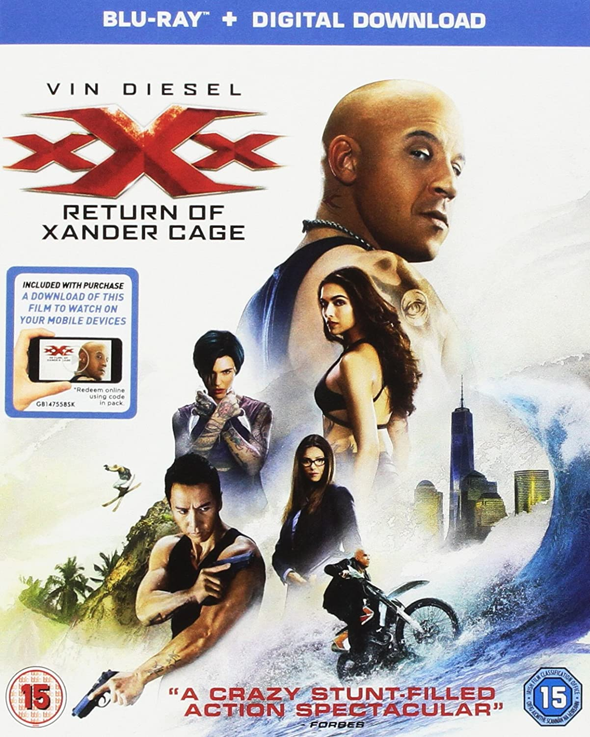 Amazon com: XXX: The Return Of Xander Cage (Blu-ray + Digital