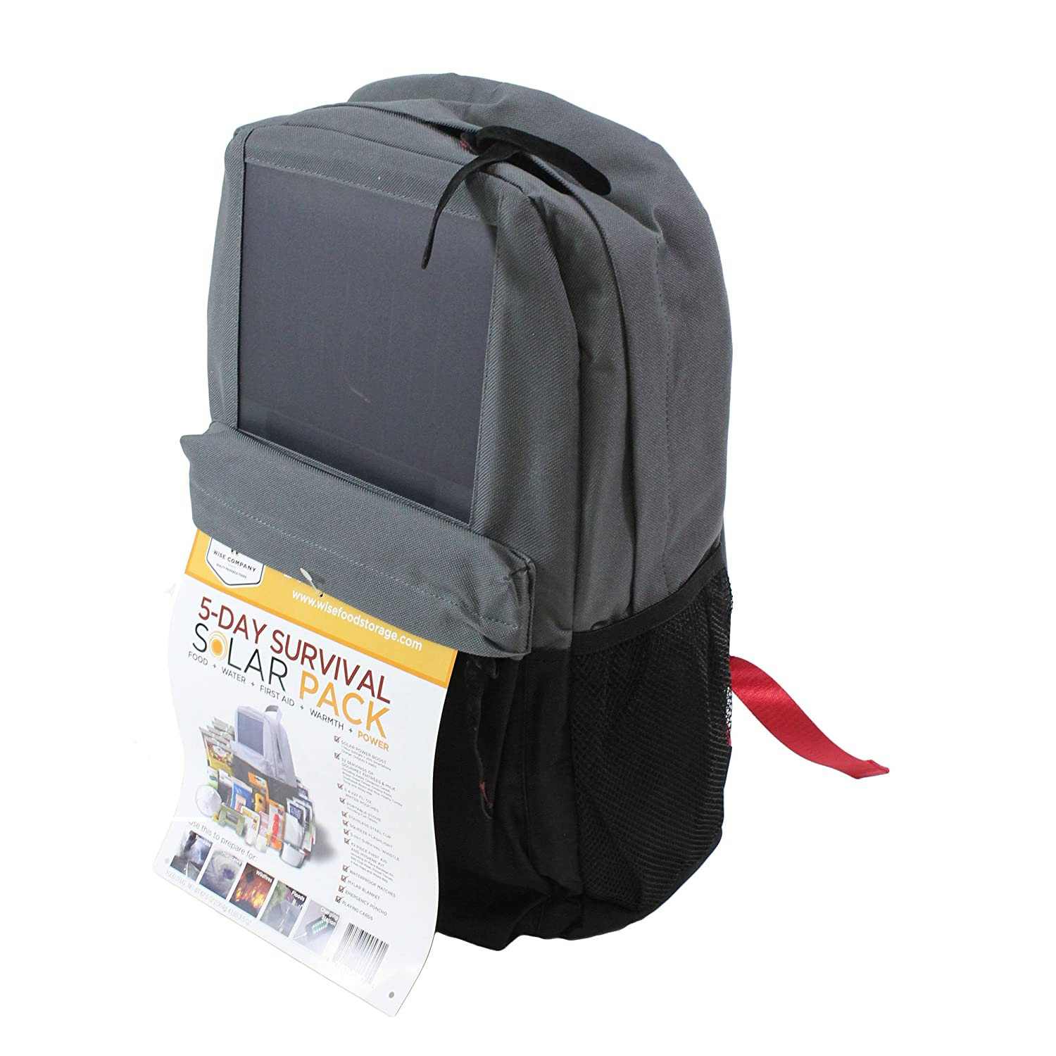 8b29a74f15e2 Wise Foods Survival 5 Day Solar Backpack