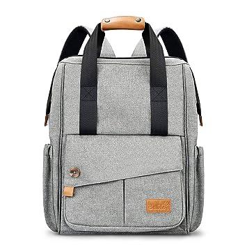 67e631703 (Prime Day Sale) Bolsa Cambiada Mochila de Pañal Para Viaje - Bolso Pañal  Gran Capacidad Elegante Multifuncional Para Mamá ...