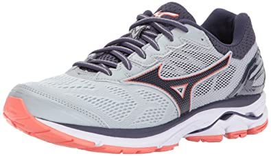 Mizuno Women's Wave Rider 21 Running Shoe Athletic Shoe, high Rise/Gray  Stone,