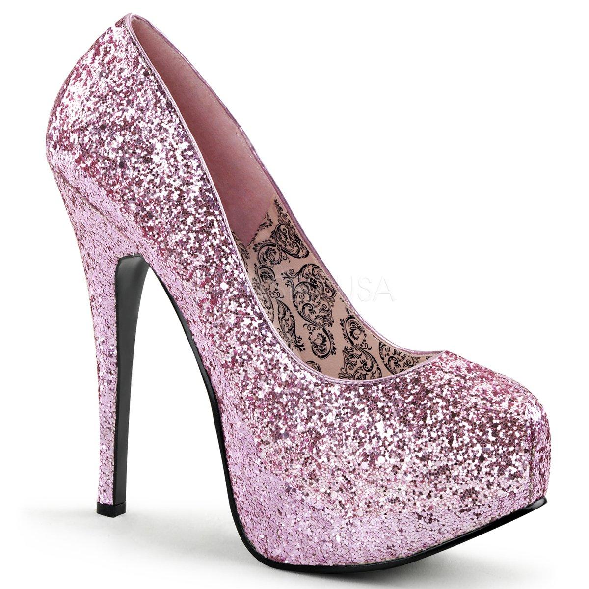 BordelloTEEZE-06G - Plataforma Mujer 36 EU|B. Pink Glitter