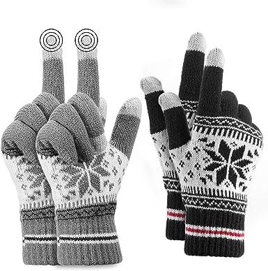 Vodabang Guantes de Pantalla T/áctil Invierno Caliente Guantes Touchscreen Gloves Deporte Al Aire Libre