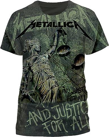 Camiseta con diseño de hombre T-Shirt Justice nedón tamaño S-2XL: Amazon.es: Música