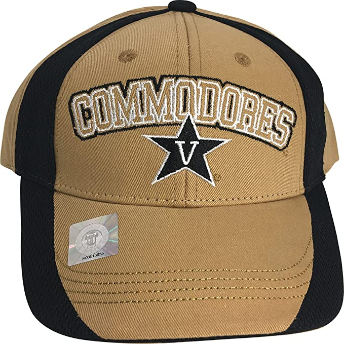 Amazon.com  NCAA Vanderbilt Commodores Name and Logo Adult Men s Cap ... 77b4931a1aa