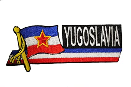 YUGOSLAVIA FLAG IRON ON EMBROIDERED PATCH FLAG OF YUGOSLAVIA