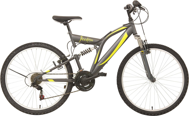 F.lli Schiano Freedom Bicicleta de montaña, 18 velocidades, doble ...