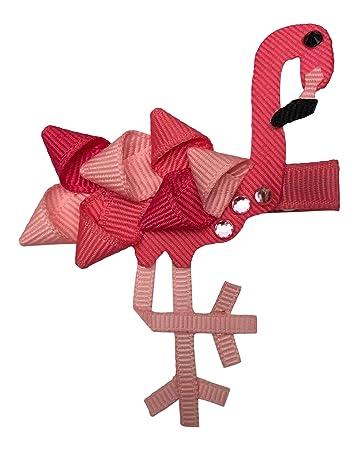 Amazon.com: Lazos para Belles Flamingo lazo de pelo cinta ...