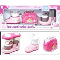 Fusine™ 3 in 1 Houshold Appliances Sets Toy for Kids (Mixer-Grinder, Toaster, Cofee Machine )
