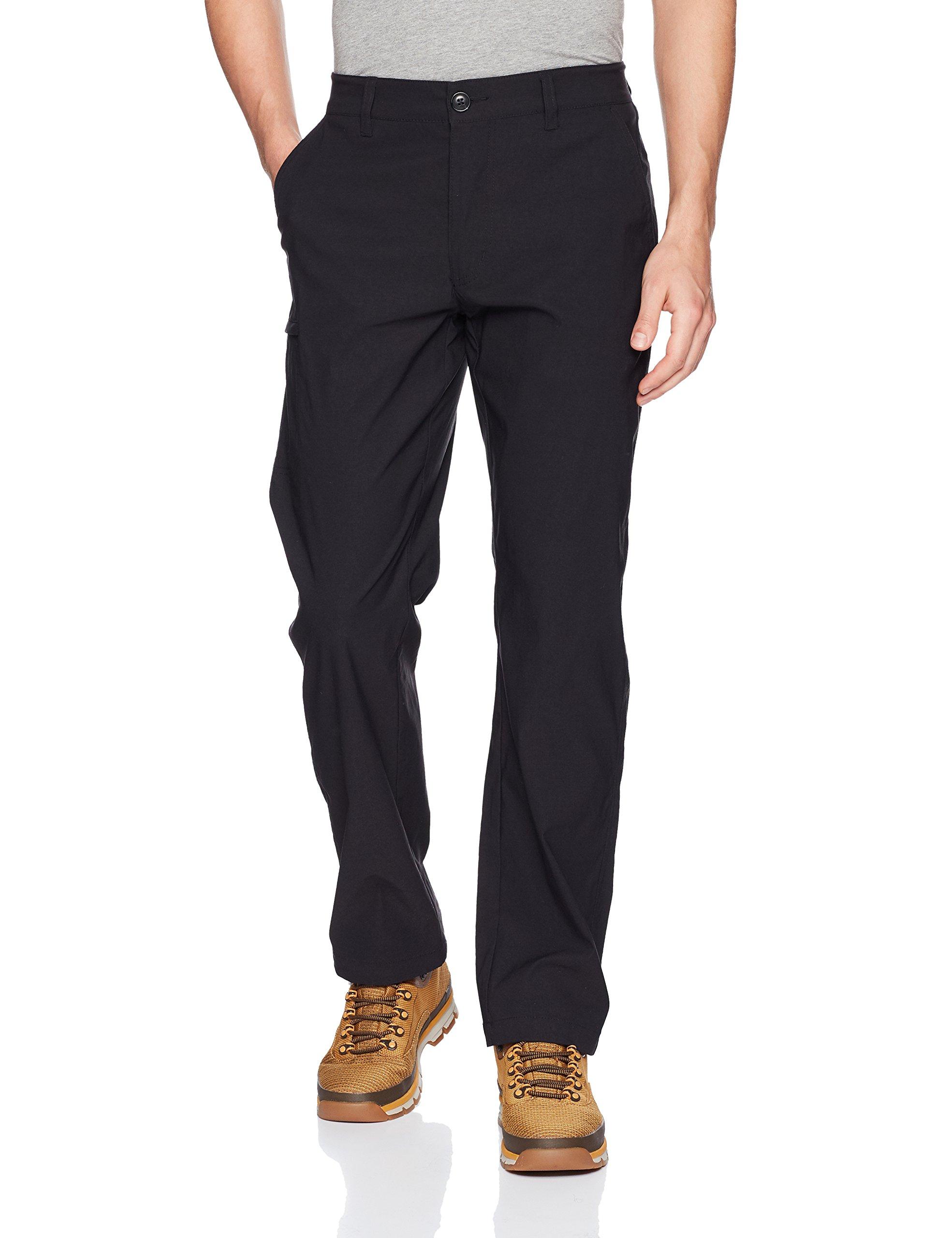 UNIONBAY Men's Rainier Lightweight Comfort Travel Tech Chino Pants, Black, 36x32