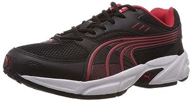 puma shoes red. puma men\u0027s pluto dp black-high risk red running shoes - 6 uk/india