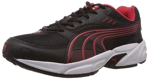 b6d45bb4a11277 Puma Men s Pluto DP Black-High Risk Red Running Shoes - 7 UK India ...