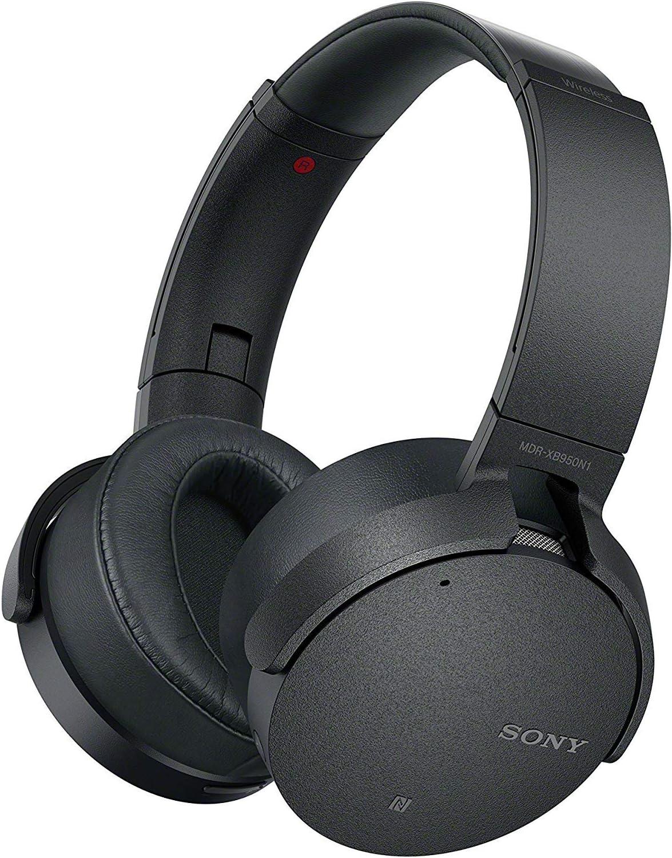 Sony MDRXB950N1/B, Auriculares Inalámbricos con Bluetooth y Extra Bass, Cancelación de Ruido, Alámbrico/Inalámbrico, Negro