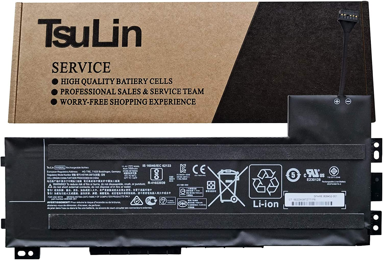 TsuLin VV09XL Laptop Battery Compatible with HP ZBook 15 G3 G4 17 G3 G4 Series Notebook HSTNN-DB7D 808398-2C2 808398-2C1 808452-005 808452-001 11.4V 90Wh 7895mAh