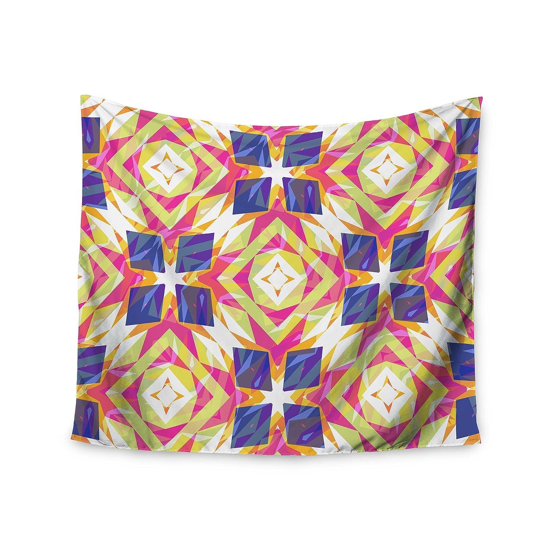 68 x 80 KESS InHouse Miranda Mol Dancing Tiles  Indigo Pink Wall Tapestry