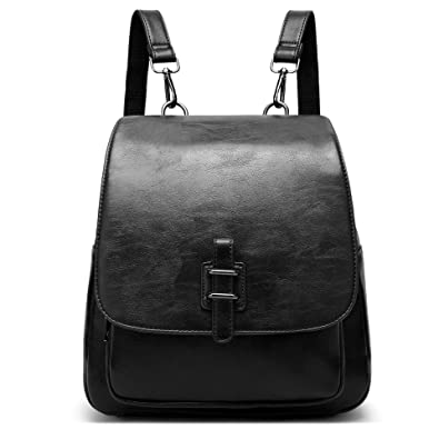 f67a18a69ba Image Unavailable. Image not available for. Color  LoZoDo Women Backpack  Shoulder Purse Black Rucksack Casual Daypack School Bag ...